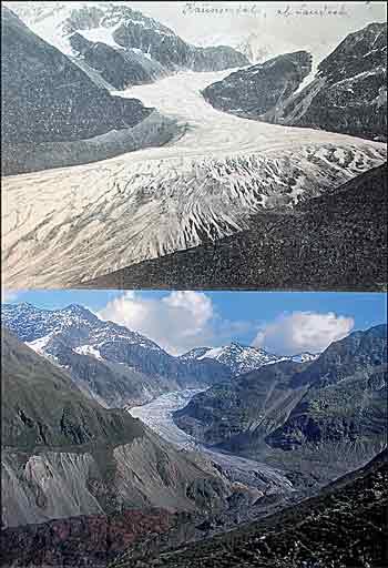 Risultati immagini per ghiacciai riduzione